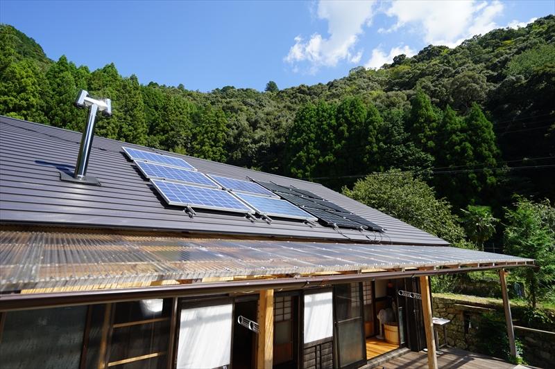太陽光発電のあるゲストハウス
